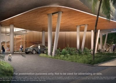 Artist Rendering of A'eo Porte Cochere, Courtesy of The Howard Hughes Corporation