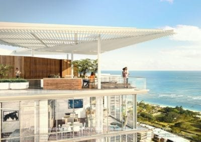 Artist Rendering of A'eo Rooftop Sky Terrace, Courtesy of The Howard Hughes Corporation
