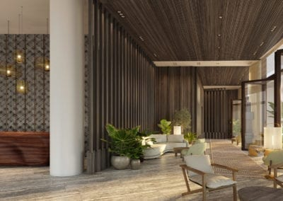 Artist Rendering, Koula at Ward Village Lobby Corridor
