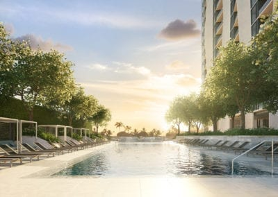 Artist Rendering, Koula at Ward Village Pool Deck