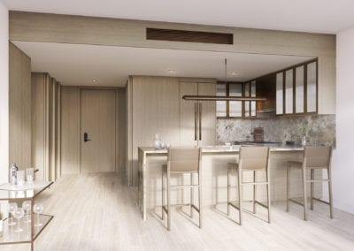 Artist Rendering, Koula at Ward Village Typical Kitchen