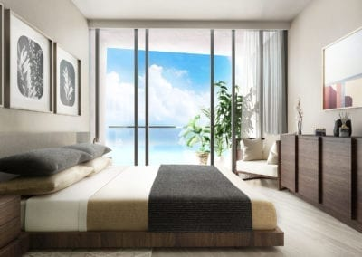Artist Rendering, Koula at Ward Village Bedroom Unit