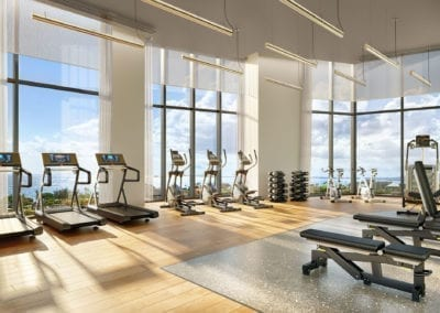 Artist Rendering, Koula at Ward Village Fitness Room