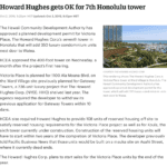 Pacific Business News - Howard Hughes Corp gets OK for 7th Honolulu Tower Victoria Place at Ward Village