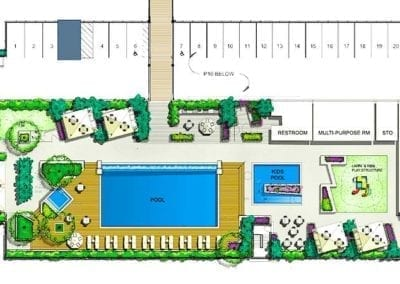 Planned Amenities Deck at SamKoo Pacific, LLC's The Central Ala Moana mixed-use condominium in Honolulu