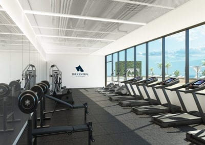 Fitness Center at SamKoo Pacific, LLC's The Central Ala Moana mixed-use condominium in Honolulu