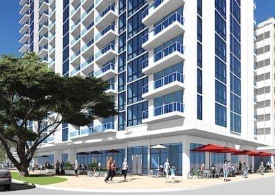 Artist's rendering of SamKoo Pacific, LLC's planned The Central Ala Moana mixed-use condominium in Honolulu