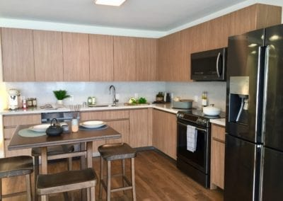 Example Kitchen at SamKoo Pacific, LLC's The Central Ala Moana mixed-use condominium in Honolulu