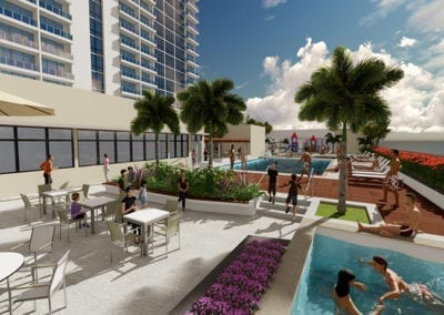 Artist's rendering of SamKoo Pacific, LLC's The Central Ala Moana mixed-use condominium in Honolulu
