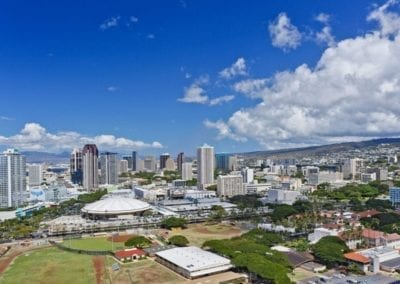 Moana Pacific View of Downtown Honolulu