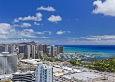 Aerial Views from Moana Pacific, Honolulu, Hawaii