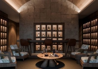 Artist's Rendering of Victoria Place Ward Village Wine Room