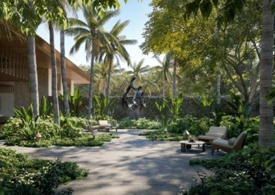 Artist's Rendering of Victoria Place Ward Village Palm Garden