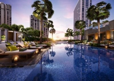 Artist's rendering of The Residences at Mandarin Oriental Honolulu Amenity Deck